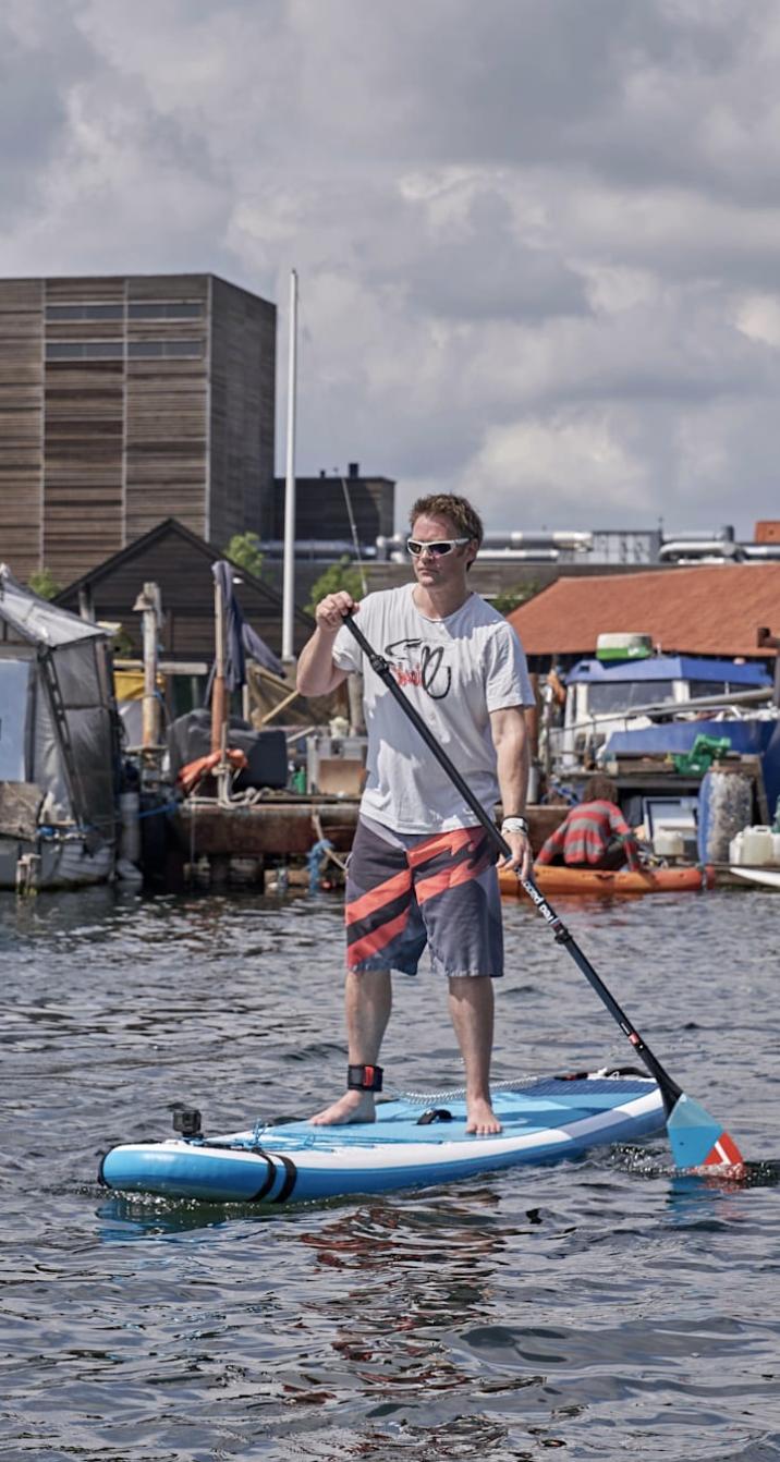 Paddelboarding i København